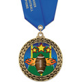 GFL Football Award Medal w/ Satin Neck Ribbon
