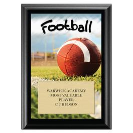 Football Black Wood Plaque