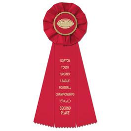 Empire Football Rosette Award Ribbon