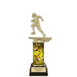 "10"" Black HS Base Football Award Trophy"