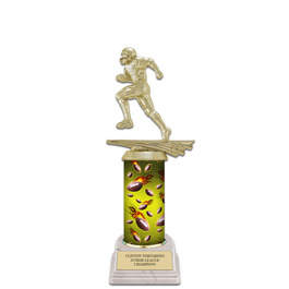 "10"" White HS Base Football Award Trophy"