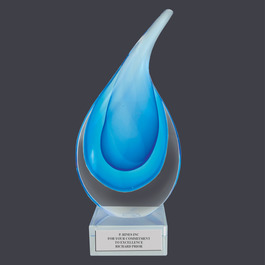Glass Raindrop Award Trophy
