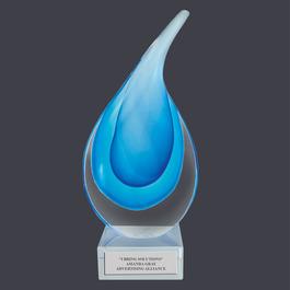Glass Raindrop Award Trophy