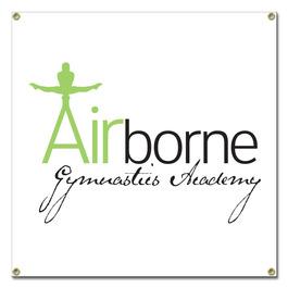 Custom Vinyl Gymnastics, Cheer & Dance Banner - Square