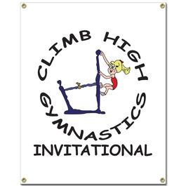 Custom Vinyl Gymnastics, Cheer & Dance Banner - Vertical