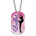 Full Color Ballet Dancer Dog Tag