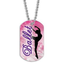 Full Color Ballet Dancer Dog Tag