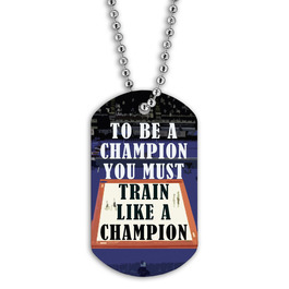 Full Color Be A Champion Dog Tag