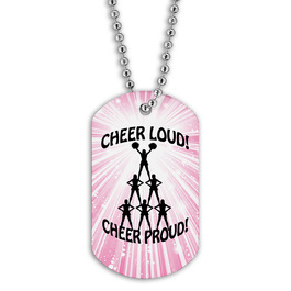 Full Color Cheer Loud Dog Tag