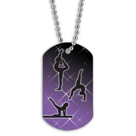 Full Color Female Gymnastics Dog Tag