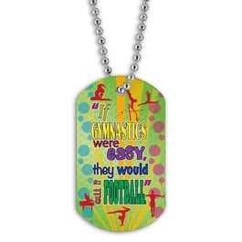 Full Color Gym Football Dog Tag