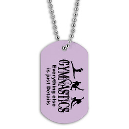 Full Color Gym Silhouettes Dog Tag