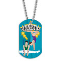 Full Color Male/Female Gymnast Dog Tag