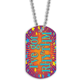 Full Color Rhythm Dance Dog Tag