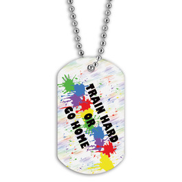 Full Color Train Hard Dog Tag