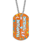 Full Color Trampoline & Tumbling  Dog Tag