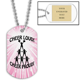 Personalized Cheer Loud Dog Tag