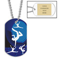 Dancer Dog Tag w/ Engraved Plate