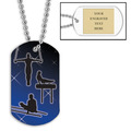 Personalized Male Gymnastics Dog Tag w/ Engraved Plate