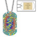 Personalized Gymnastics Dog Tag w/ Engraved Plate