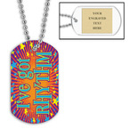 Personalized Rhythm Dance Dog Tag w/ Engraved Plate