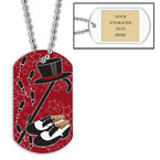 Personalized Tap Dance Dog Tag w/ Engraved Plate