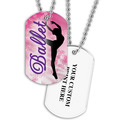Personalized Ballet Dancer Dog Tag w/ Print on Back