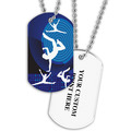 Personalized Dancers Dog Tag w/ Print on Back