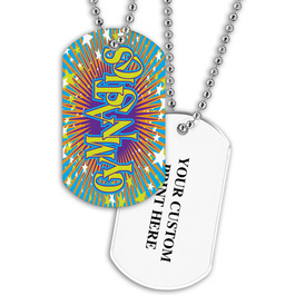 Personalized Gymnastics Dog Tag w/ Print on Back