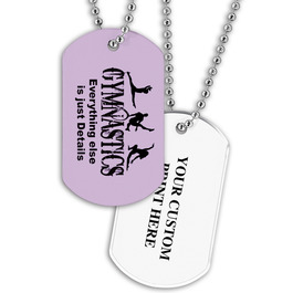 Personalized Gym Silhouettes Dog Tag