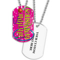 Personalized Rhythmic Gymnastics Dog Tag w/ Print on Back