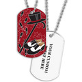 Personalized Tap Dance Dog Tag w/ Print on Back