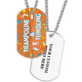 Personalized Trampoline & Tumbling Dog Tag w/ Print on Back