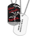 Personalized When In Doubt Dance Dog Tag