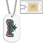 Custom Gymnastics, Cheer & Dance Dog Tags w/ Engraved Plate