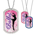 Full Color GEM Ballet Dancer Dog Tag