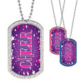 Full Color GEM Cheerleading Dog Tag