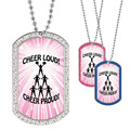 Full Color GEM Cheer Loud Dog Tag