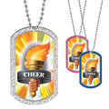 Full Color GEM Cheer Torch Dog Tag