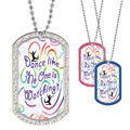 Full Color GEM Dance Like No One Dog Tag