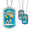 Full Color GEM Male/Female Gymnast Dog Tag