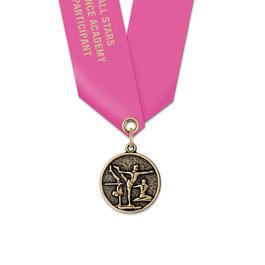 CX Gymnastics, Cheer & Dance Award Medal w/ Satin Neck Ribbon