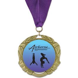 XBX Gymnastics, Cheer & Dance Award Medal w/ Grosgrain Neck Ribbon