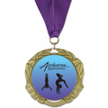XBX Gymnastics, Cheer & Dance Award Medal w/ Grosgrain Neck Ribbon
