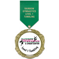 XBX Gymnastics, Cheer & Dance Award Medal w/ Satin Drape Ribbon