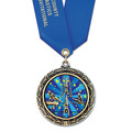 LXC Color Fill Gymnastics, Cheer & Dance Award Medal w/ Satin Neck Ribbon