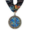 LXC Color Fill Gymnastics, Cheer & Dance Award Medal w/ Millennium Neck Ribbon