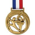 Atlas Gymnastics, Cheer & Dance Award Medal w/ Grosgrain Neck Ribbon