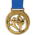 Atlas Gymnastics, Cheer & Dance Award Medal w/ Satin Neck Ribbon