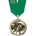 ES Gymnastics, Cheer & Dance Award Medal w/ Satin Neck Ribbon